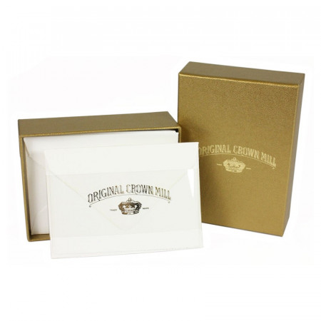 Crown Mill Golden Line B5 280gsm Set of 25 Cards and Envelopes - White