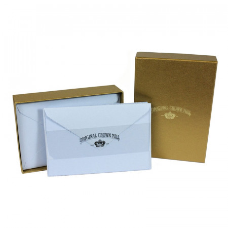 Crown Mill Golden Line 9.5x14.5 280gsm Set of 25 Cards and Envelopes - Blue