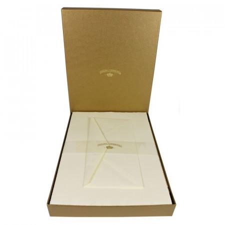 Crown Mill Golden Line DL 100gsm Set of 25 Sheets and Envelopes - Cream