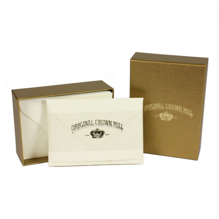 Crown Mill Golden Line B5 280gsm Set of 25 Cards and Envelopes - Cream