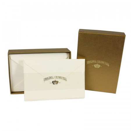 Crown Mill Golden Line 9.5x14.5 280gsm Set of 25 Cards and Envelopes - Cream