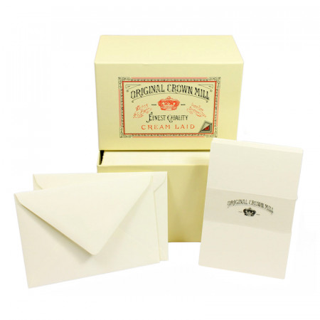 Crown Mill Luxury Box C6 Set of 50 Cards and Envelopes - Cream
