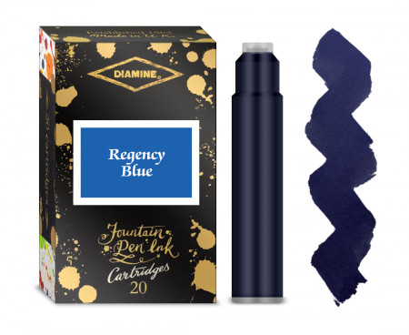 Diamine Ink Cartridge - Regency Blue (Pack of 20)