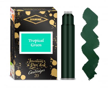 Diamine Ink Cartridge - Tropical Green (Pack of 20)