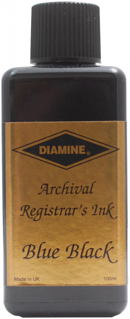 Diamine Ink Bottle 100ml - Registrar's Blue/Black