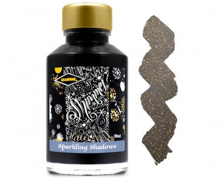 Diamine Ink Bottle 50ml - Sparkling Shadows
