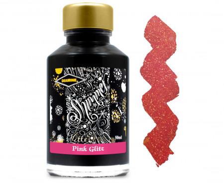 Diamine Ink Bottle 50ml - Pink Glitz