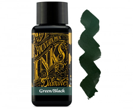 Diamine Ink Bottle 30ml - Green Black