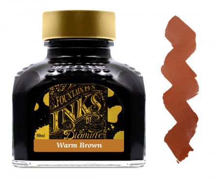 Diamine Ink Bottle 80ml - Dark Brown