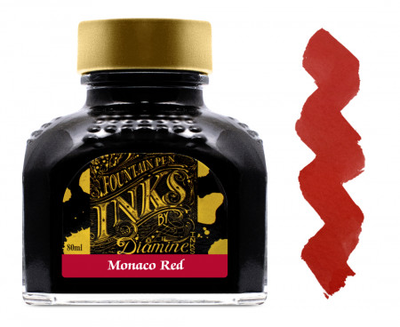 Diamine Ink Bottle 80ml - Monaco Red