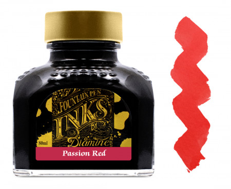 Diamine Ink Bottle 80ml - Passion Red