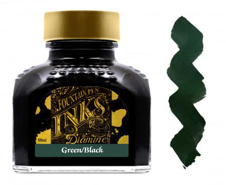 Diamine Ink Bottle 80ml - Green Black