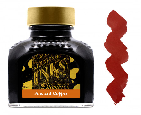 Diamine Ink Bottle 80ml - Ancient Copper