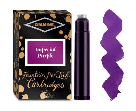 Diamine Ink Cartridge - Imperial Purple (Pack of 18)