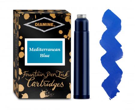 Diamine Ink Cartridge - Mediterranean Blue (Pack of 18)