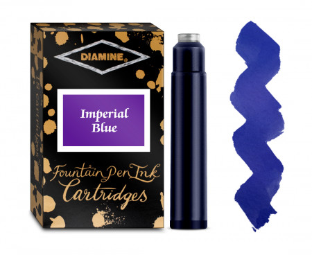 Diamine Ink Cartridge - Imperial Blue (Pack of 18)