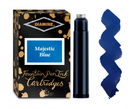 Diamine Ink Cartridge - Majestic Blue (Pack of 18)