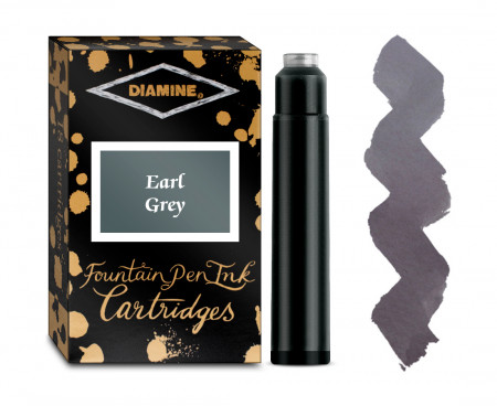Diamine Ink Cartridge - Earl Grey (Pack of 18)