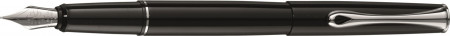 Diplomat Esteem Fountain Pen - Gloss Black Chrome Trim