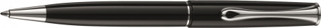 Diplomat Esteem Ballpoint Pen - Gloss Black Chrome Trim
