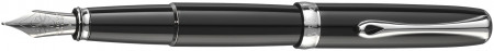 Diplomat Excellence A2 Fountain Pen - Black Lacquer Chrome Trim