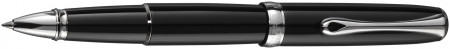 Diplomat Excellence A2 Rollerball Pen - Black Lacquer Chrome Trim