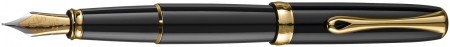 Diplomat Excellence A2 Fountain Pen - Black Lacquer Gold Trim
