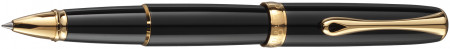 Diplomat Excellence A2 Rollerball Pen - Black Lacquer Gold Trim