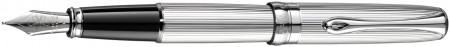 Diplomat Excellence A2 Fountain Pen - Guilloche Lined Chrome
