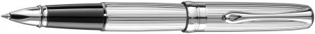 Diplomat Excellence A2 Rollerball Pen - Guilloche Lined Chrome
