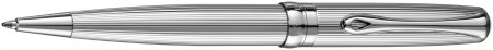 Diplomat Excellence A2 Ballpoint Pen - Guilloche Lined Chrome