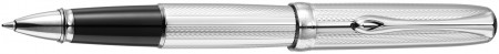 Diplomat Excellence A2 Rollerball Pen - Guilloche Stripes Chrome