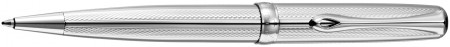 Diplomat Excellence A2 Ballpoint Pen - Guilloche Stripes Chrome
