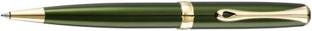 Diplomat Excellence A2 Ballpoint Pen - Evergreen Gold Trim