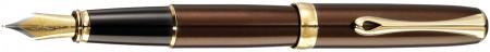 Diplomat Excellence A2 Fountain Pen - Marrakesh Brown Gold Trim