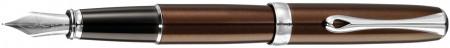 Diplomat Excellence A2 Fountain Pen - Marrakesh Brown Chrome Trim