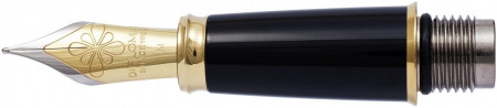 Diplomat Excellence Black Nib - Stainless Steel Gold Plated