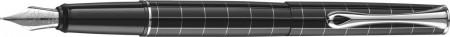 Diplomat Optimist Fountain Pen - 'Rhomb' Pattern Gloss Black