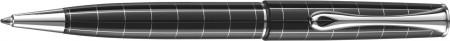 Diplomat Optimist Ballpoint Pen - 'Rhomb' Pattern Gloss Black