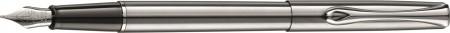 Diplomat Traveller Fountain Pen - Stainless Steel Chrome Trim