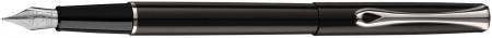 Diplomat Traveller Fountain Pen - Gloss Black Chrome Trim