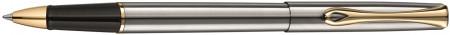 Diplomat Traveller Rollerball Pen - Stainless Steel Gold Trim