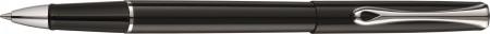 Diplomat Traveller Rollerball Pen - Gloss Black Chrome Trim