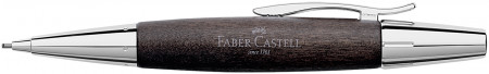 Faber-Castell e-motion Pencil - Black Wood and Chrome