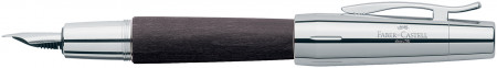 Faber-Castell e-motion Fountain Pen - Black Wood and Chrome