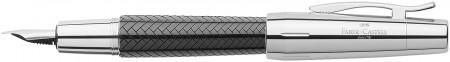 Faber-Castell e-motion Fountain Pen - Parquet Black