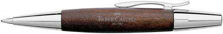 Faber-Castell e-motion Ballpoint Pen - Dark Wood and Chrome