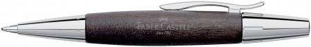 Faber-Castell e-motion Ballpoint Pen - Black Wood and Chrome
