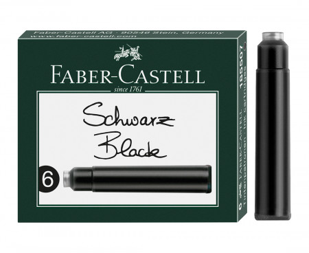 Faber-Castell Ink Cartridge - Pack of 6