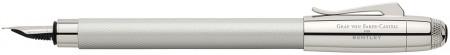 Graf von Faber-Castell for Bentley Fountain Pen - White Satin